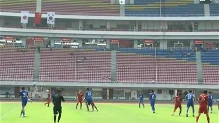 第27届中日韩青少年运动会开幕  首场足球比赛首战告捷 中国国青队1:0日本国青队