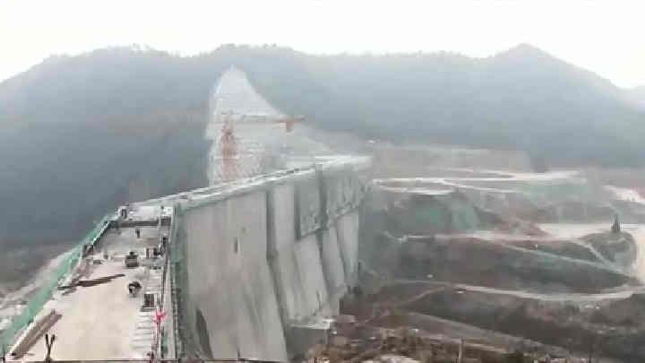 白石洞水库建设:总体已经完成95% 预计明年4月1日之前下闸蓄水