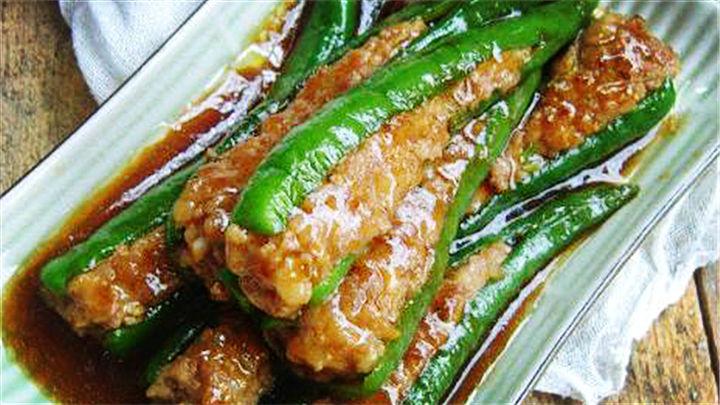 酿青椒|青椒别炒肉丝了,这样做好吃得不要不要滴!
