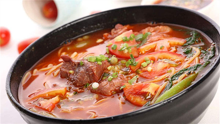 西红柿牛肉面|酸爽筋道,一大碗没商量!