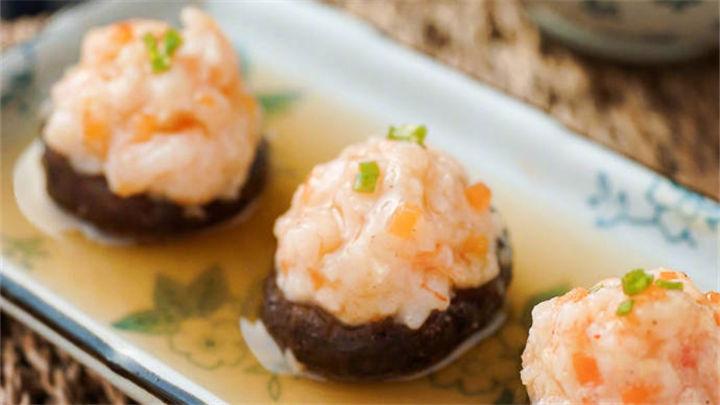 虾酿香菇|一口吃一个超级爽!