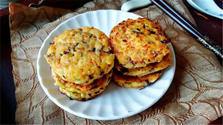 香菇豆腐饼|简单易学的营养早餐,味道超赞~