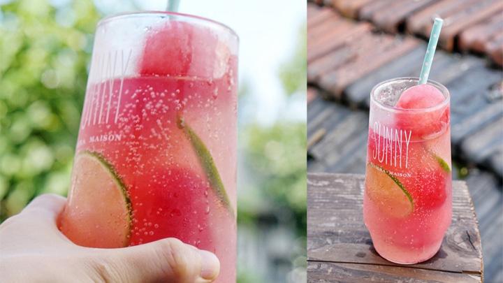 超简单的西瓜气泡饮料!炎热夏天里的一个好心情~