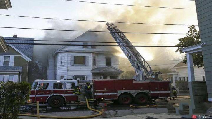美国马萨诸塞州39处房屋发生燃气爆炸 伤亡不明