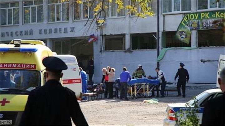 克里米亚校园爆炸和枪击事件致19人死亡 嫌疑人自杀