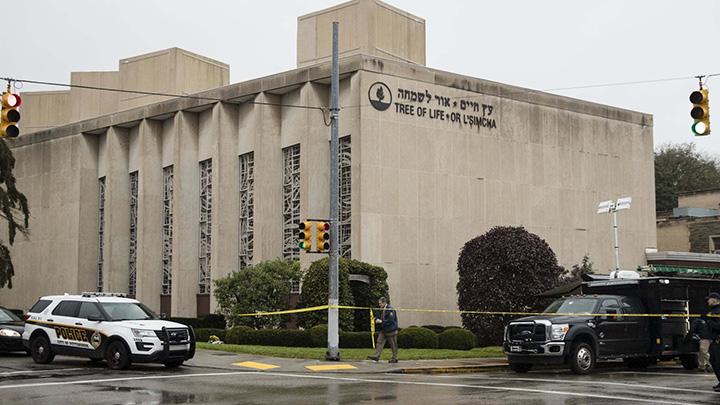 美国匹兹堡犹太教堂枪击案造成至少11人死亡