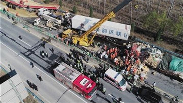 大广高速平舆段交通事故最新通报:致9死9伤
