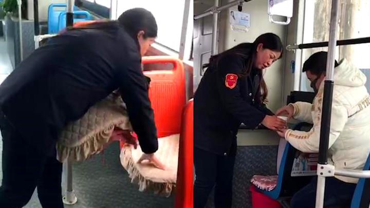 """暖心!公交司机自掏腰包为座椅添棉垫,让老人告别""""冷板凳"""""""
