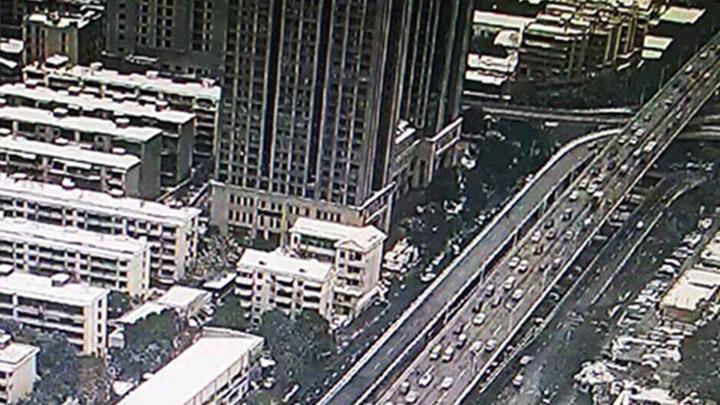 【路况信息】目前,芙蓉区东二环团结桥北往南车流量大。