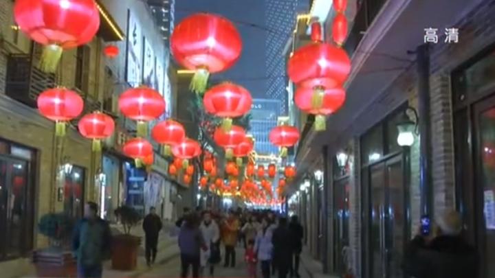 登隆街灯会声光影展现老长沙地道民俗 逛灯会 韵年味