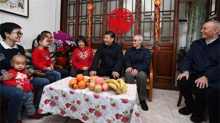 春节前夕,习近平等党和国家领导人看望老同志
