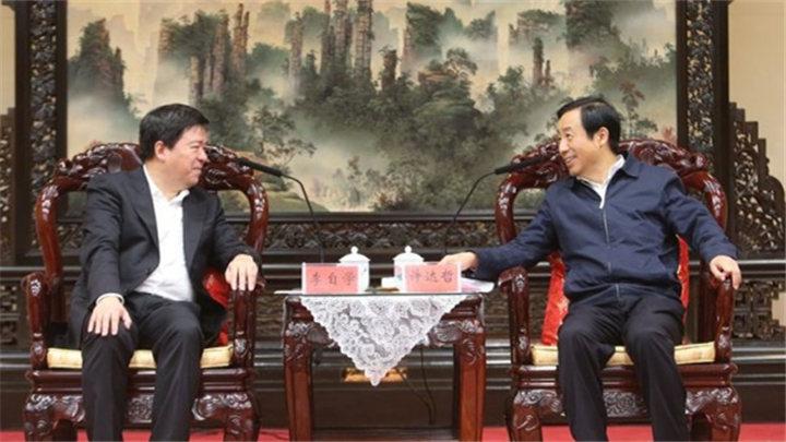 省政府与中兴通讯举行会谈 许达哲出席