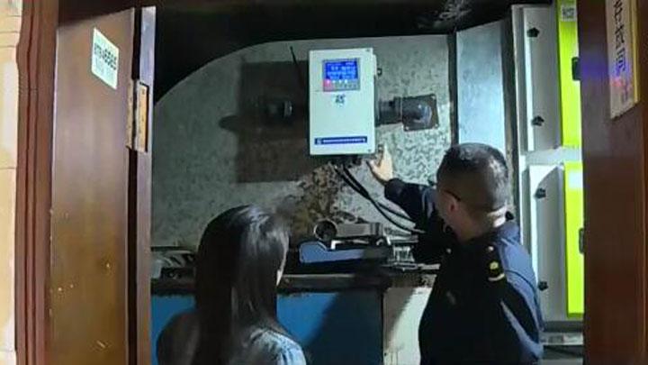 24小时自动监测油烟排放 宁乡100家餐饮门店率先安装智能检测设备