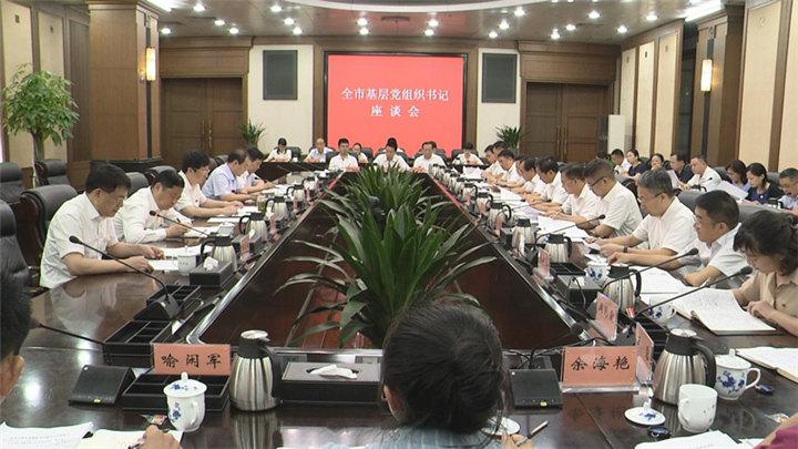 全市基层党组织书记座谈会召开,胡衡华出席