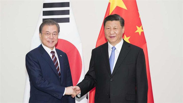 习近平会见文在寅:中方支持朝美举行新一轮领导人会晤