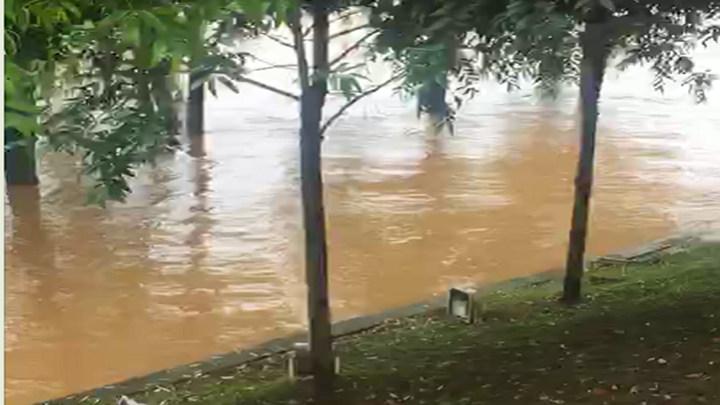 橘子洲景点水位急增:景区已暂停游客进入