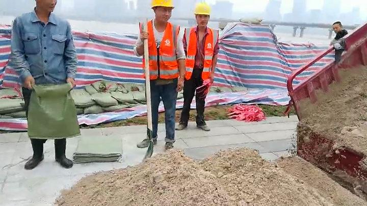 开福区新河街道:农民工组义务抢险队伍