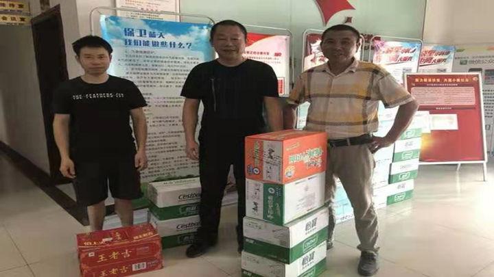 社会各界纷纷支援防汛工作,送来防汛物资,助力安沙镇防汛工作的有序开展。