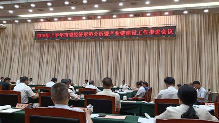 2019年上半年市委经济形势分析暨产业链建设工作推进会议召开,胡衡华胡忠雄出席