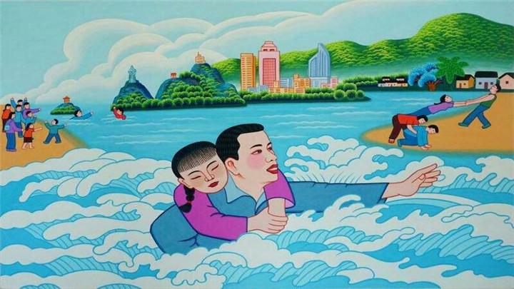 浙江一乡干部接受采访突遇儿童溺水 转身跳水救人