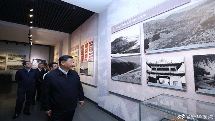 习近平参观中国工农红军西路军纪念馆