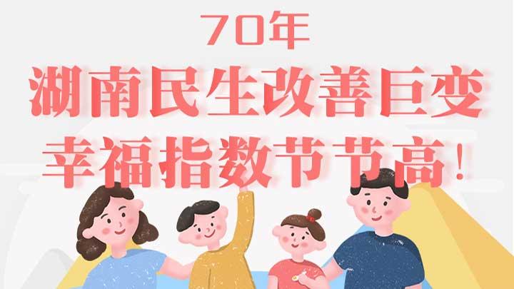 一图看懂:70来,湖南民生改善巨变,幸福指数节节高!