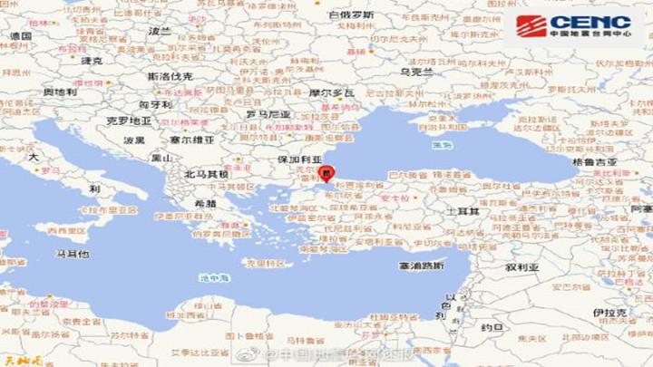 土耳其发生5.7级地震,震源深度10千米