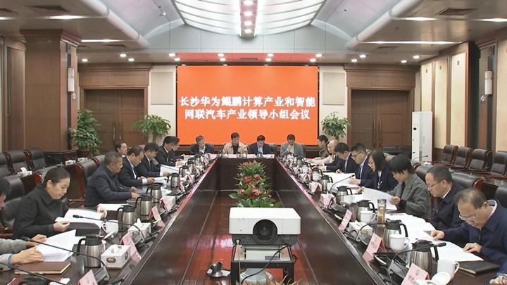 胡忠雄召开长沙鲲鹏计算产业和智能网联汽车产业领导小组会议