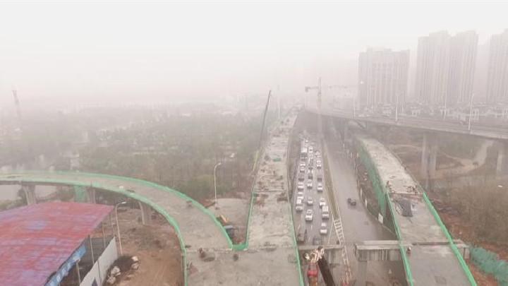 湘府路(河西段)快改工程连续梁浇筑完成 预计春节前主线桥梁具备通车条件